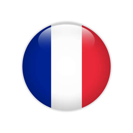 France flag on button Stock Illustratie