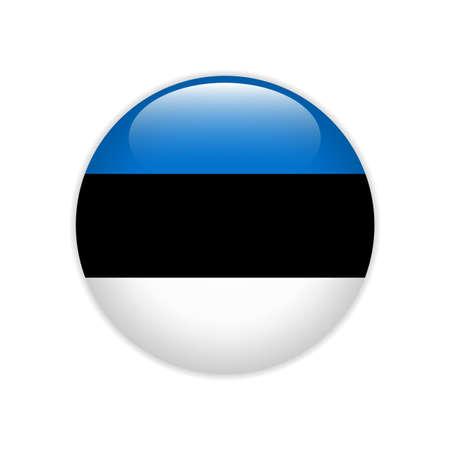 Estland-Flagge auf Knopf