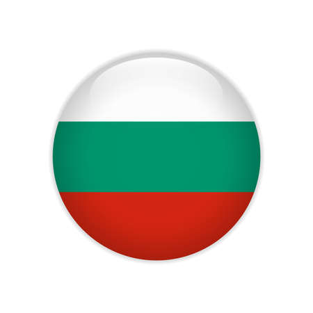 Bulgaria flag on button
