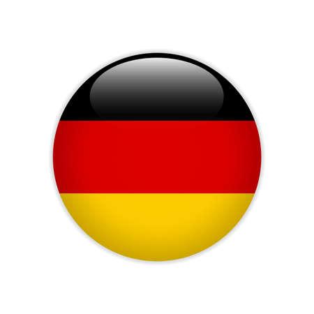 Drapeau de l'Allemagne sur le bouton Vecteurs