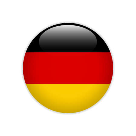 Germany flag on button