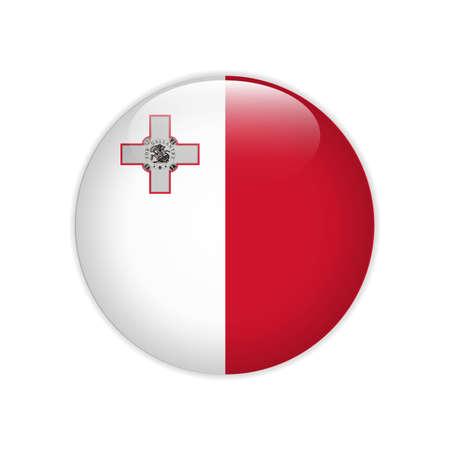 Malta flag on button
