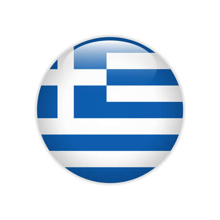 Greece flag on button