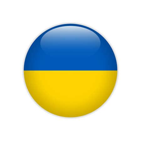Ukraine flag on button