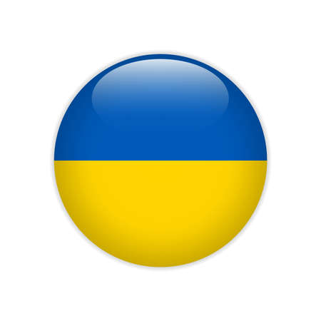 Ukraine flag on button