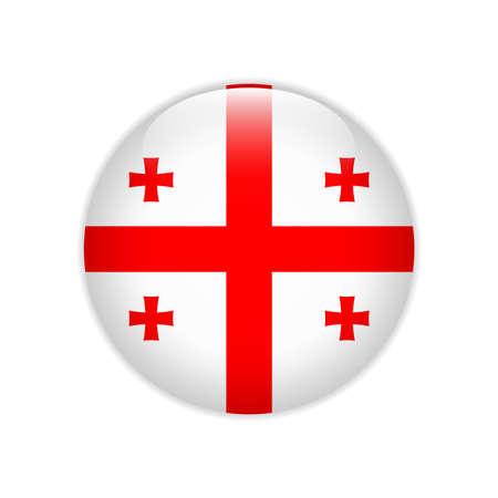 Georgia flag on button