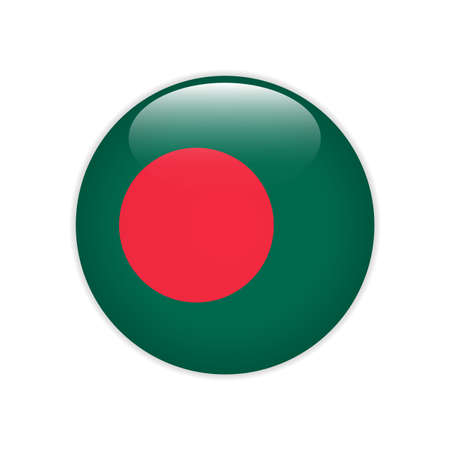 Bangladesh flag on button