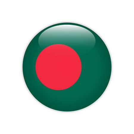 Bangladesh flag on button