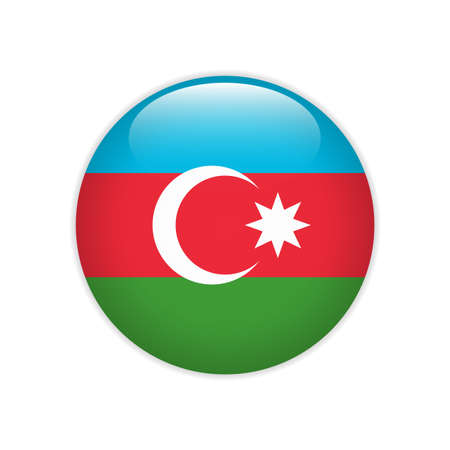 Azerbaijan flag on button