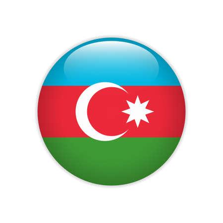 Azerbaijan flag on button