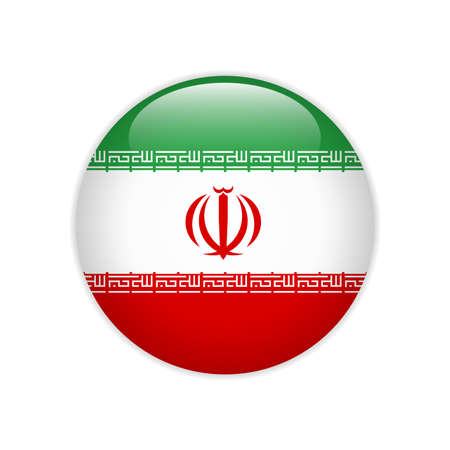 Iran flag on button