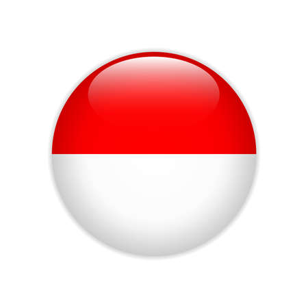 Indonesia flag on button