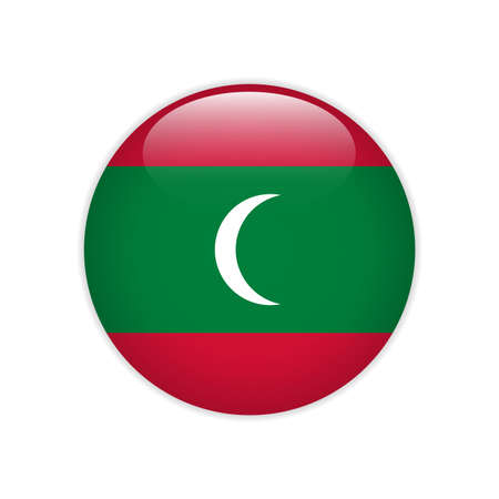 Maldives flag on button