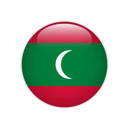 Maldives flag on button