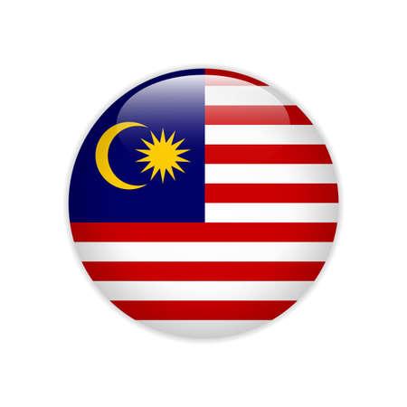Malaysia flag on button Illustration