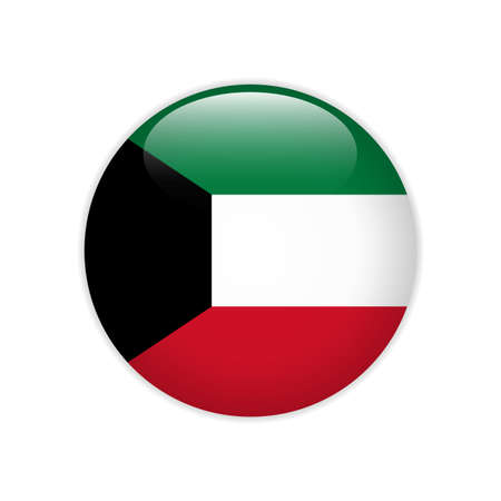 Kuwait flag on button