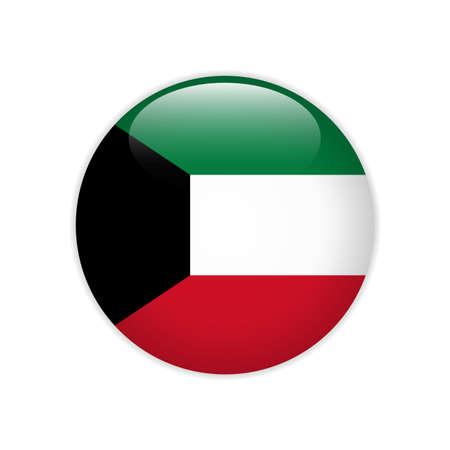 Kuwait flag on button