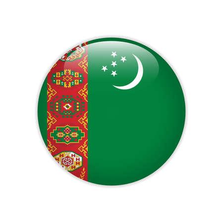 Turkmenistan flag on button