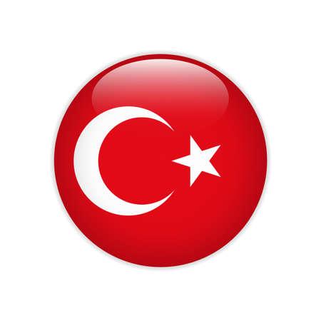 Turkey flag on button