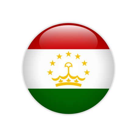 Tajikistan flag on button