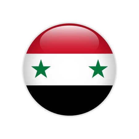 Syria flag on button
