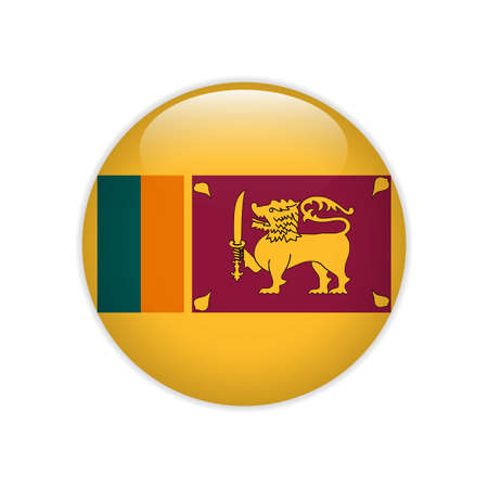 Sri Lanka flag on button Ilustrace