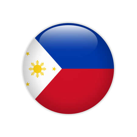 Philippines flag on button