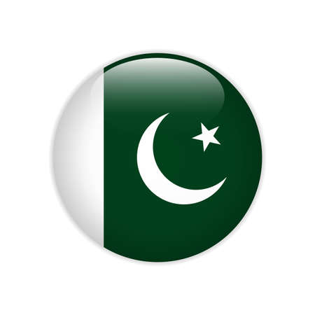 Pakistan flag on button
