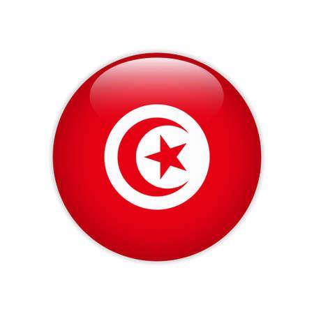 Tunisia flag on button