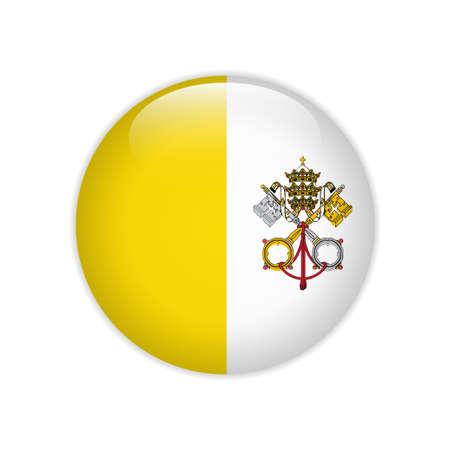 Vatican City flag on button Illustration
