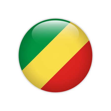 Republic Congo flag on button