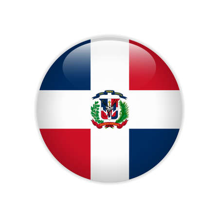 Dominican Republic flag on button