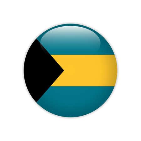 Bahamas flag on button