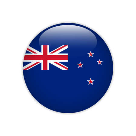 New Zealand flag on button