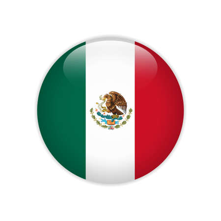 Mexico flag on button