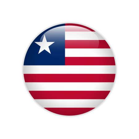 Liberia flag on button
