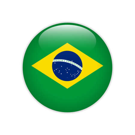 Brazil flag on button