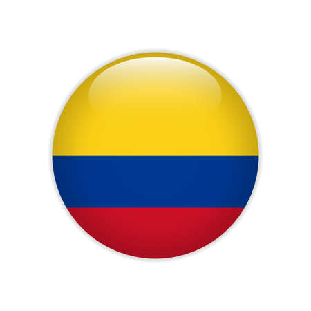 Colombia flag on button
