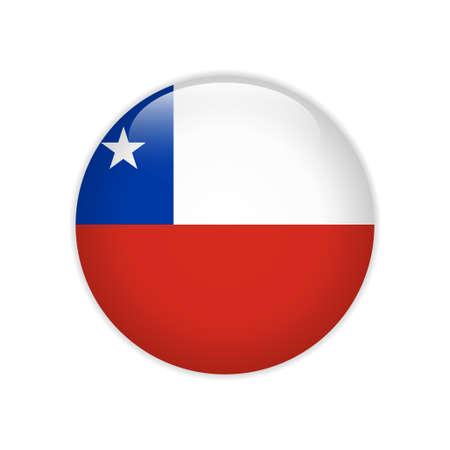 Chile flag on button Illustration