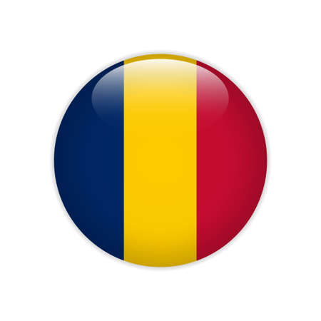 Chad flag on button