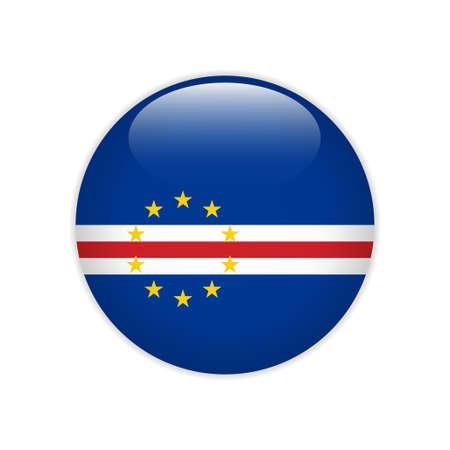 Cabo Verde flag on button Illustration