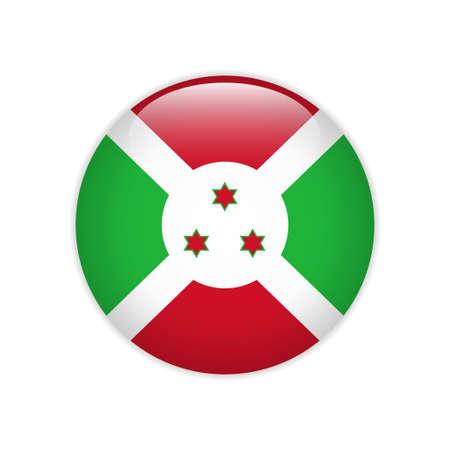 Burundi flag on button