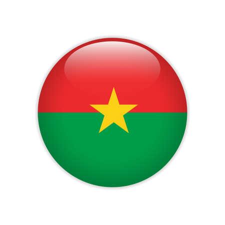 Burkina Faso flag on button