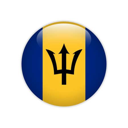 Barbados flag on button Ilustrace