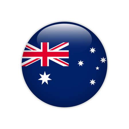 Australia flag on button