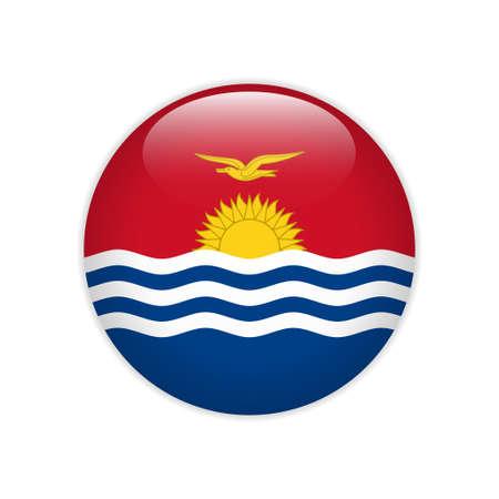 Kiribati flag on button