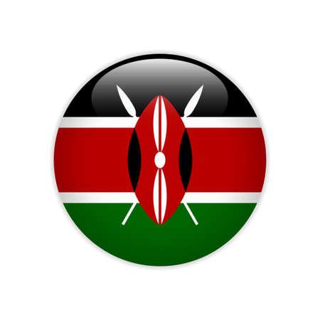 Kenya flag on button