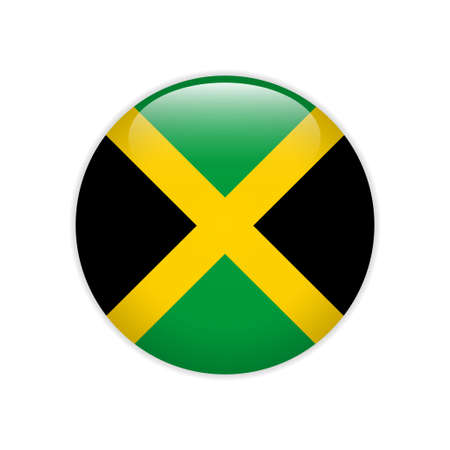 Jamaica flag on button