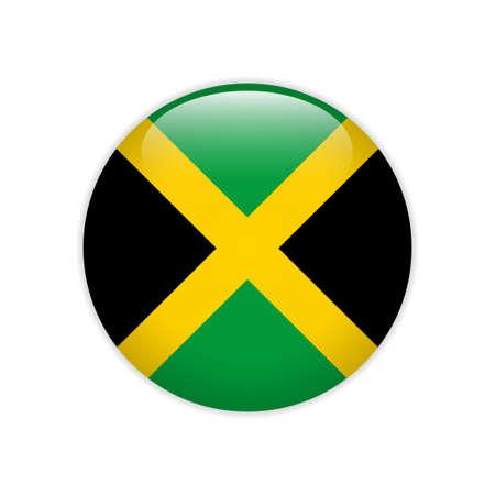 Jamaica flag on button