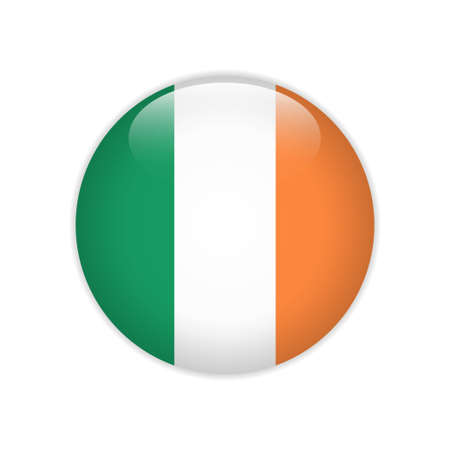Ireland flag on button